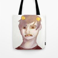 homestuck Tote Bags featuring Karkat by Gin and Cats