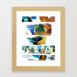 Abstract multicolour painting Framed Art Print