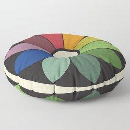 James Ward's Chromatic Circle Floor Pillow