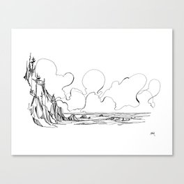 Surf's Up Short Sands Canvas Print