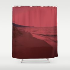 Dreamscape red Shower Curtain