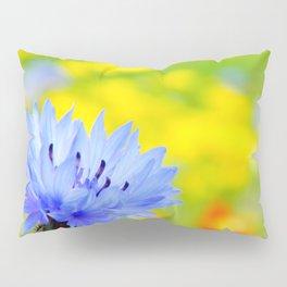 Bachelor's Buttons Flower Pillow Sham