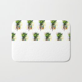 Abstract Watercolor Pineapple Bath Mat