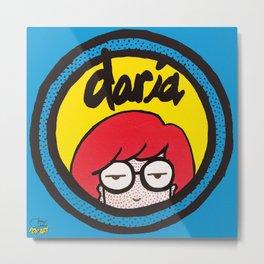 Daria | Pop Art Metal Print