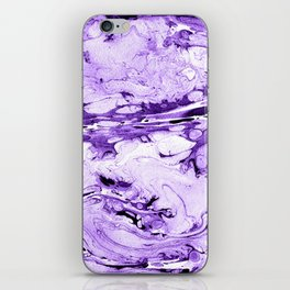 Violet Marbling drawing brush iPhone Skin