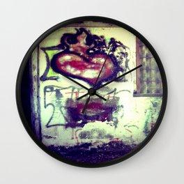 Flaming Heart - The Rural Graffiti Series Wall Clock