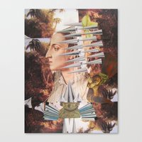 iron maiden Canvas Prints featuring Laura The Iron Maiden by MELANCHOLIE (mit MONSTERN)