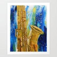palo alto Art Prints featuring Alto Sax by ja12coo
