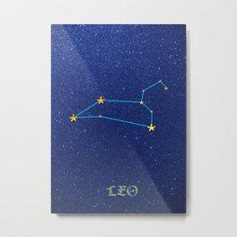 Constellations - LEO Metal Print