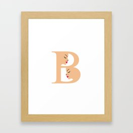 Letter B with faces of women Framed Art Print