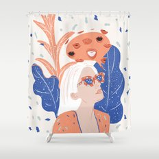 Thinkin About Kissin You Shower Curtain