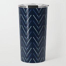Chevron Arrow Pattern Modern Wavy Stripes Travel Mug