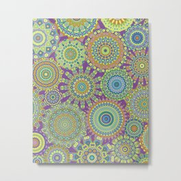 Millefiori Karma-Jardin colorway Metal Print