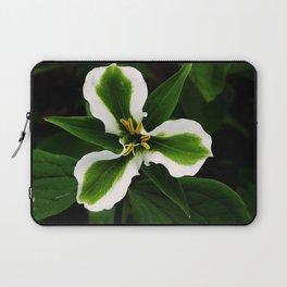 Green-striped White Trillium  (Disease can be beautiful) Laptop Sleeve