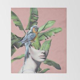 Tropical Girl  2 Throw Blanket