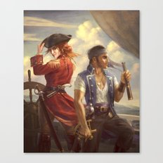 Mass Effect Pirate AU Canvas Print