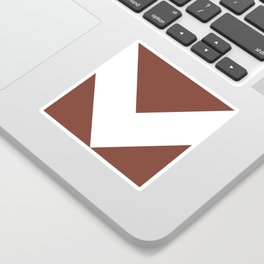 Chevron (White & Brown) Sticker