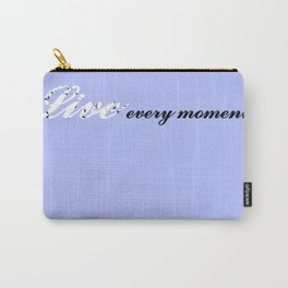 Live Every Moment (Light Blue) Carry-All Pouch