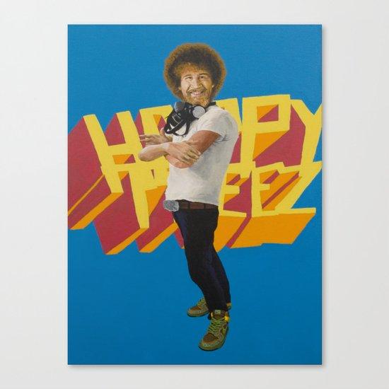 Hip Hop x Bob Ross Canvas Print