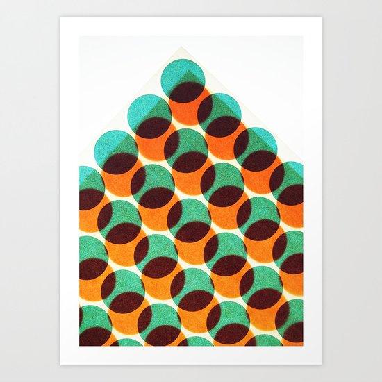 Peak of dots Art Print