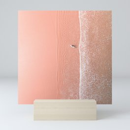 pink sands surf Mini Art Print