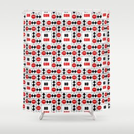 no gun 4– rebel, wild,prohibition,peace,nra,pacifism,weapon. Shower Curtain