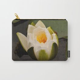 White Lily Bud Carry-All Pouch