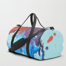 Red and Blue Fused Together Duffle Bag