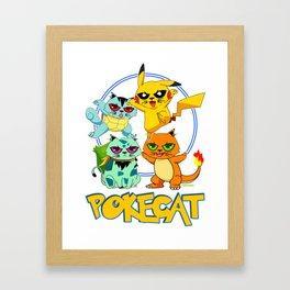 Pokecat Framed Art Print