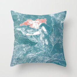 The Child Sleeps Throw Pillow