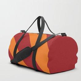 Geometric Shape 3 (Red and Orange Rays) Duffle Bag