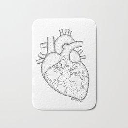 Wanderer's Heart Earth anatomy Bath Mat