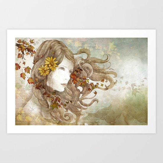 As Much as I Love Autumn Art Print