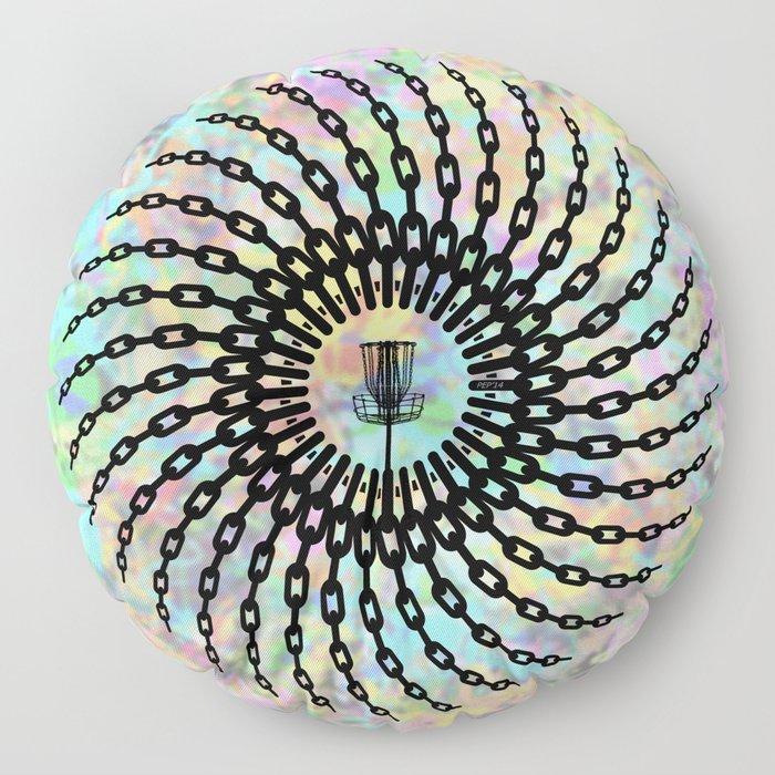 Disc Golf Basket Chains Floor Pillow