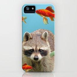 Goldfish Racoon iPhone Case