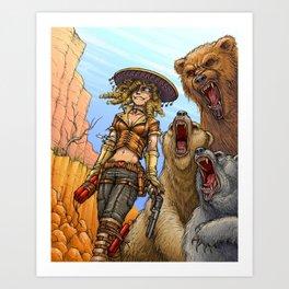 Goldilocks y los tres osos! Art Print