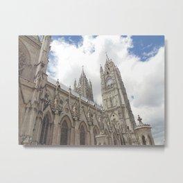 La Basílica del Sagrado Voto Nacional, Tres Metal Print
