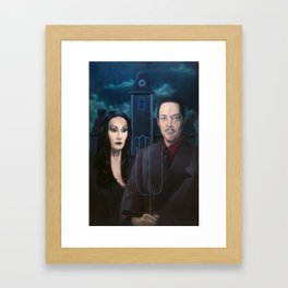 Addams Family Gothic Framed Art Print