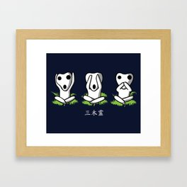 Three Kodama Framed Art Print