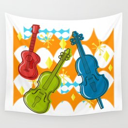 Sunny Grappelli String Jazz Trio Composition Wall Tapestry