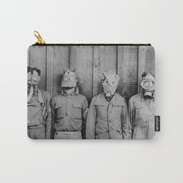 American, British, French, & German Gas Masks Carry-All Pouch