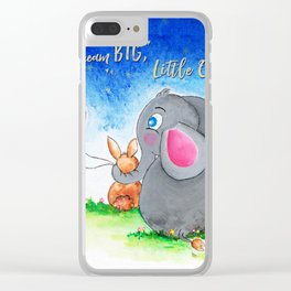 Ellie and Bunny - Dream Big Clear iPhone Case