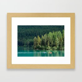 Bowman Lake Blue Framed Art Print