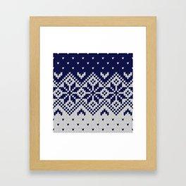 Winter knitted pattern 9 Framed Art Print