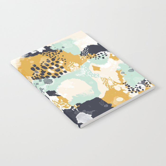 Tinsley - Abstract painting in bold, modern, bright colors Notebook