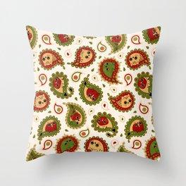 Cat Paisley - Christmas - v2 Throw Pillow