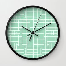Map Outline Mint Wall Clock
