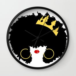 Mommy's Night Out   Natural Hair Art   Girls Night Out   Black Moms   Afro Art   Royalty Wall Clock