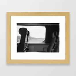 A train ride Framed Art Print