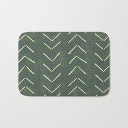 Mudcloth Big Arrows in Leaf Green Bath Mat